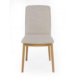 Chaise Adra gris clair avec pieds en chêne