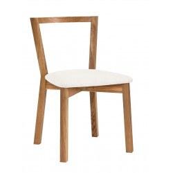Chaise en bois et blanc Cee Dining Chair H par Woodman