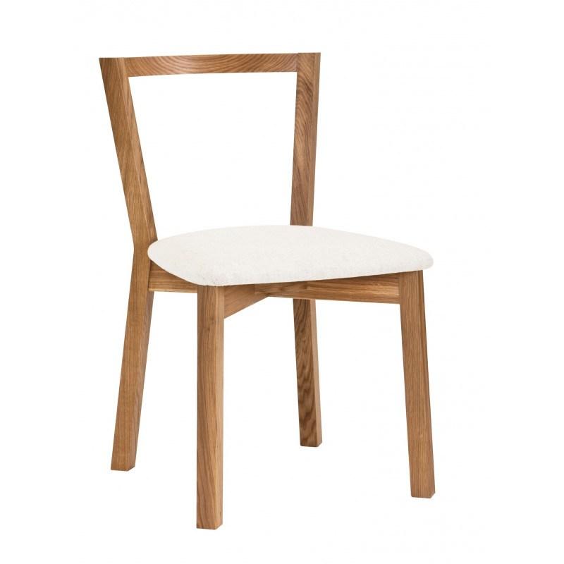 Chaise En Bois Massif Et Assise Tissu Cee De Chez Woodman