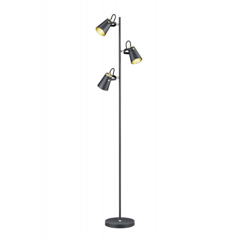 Lampadaire industriel en métal 3 lampes Edward