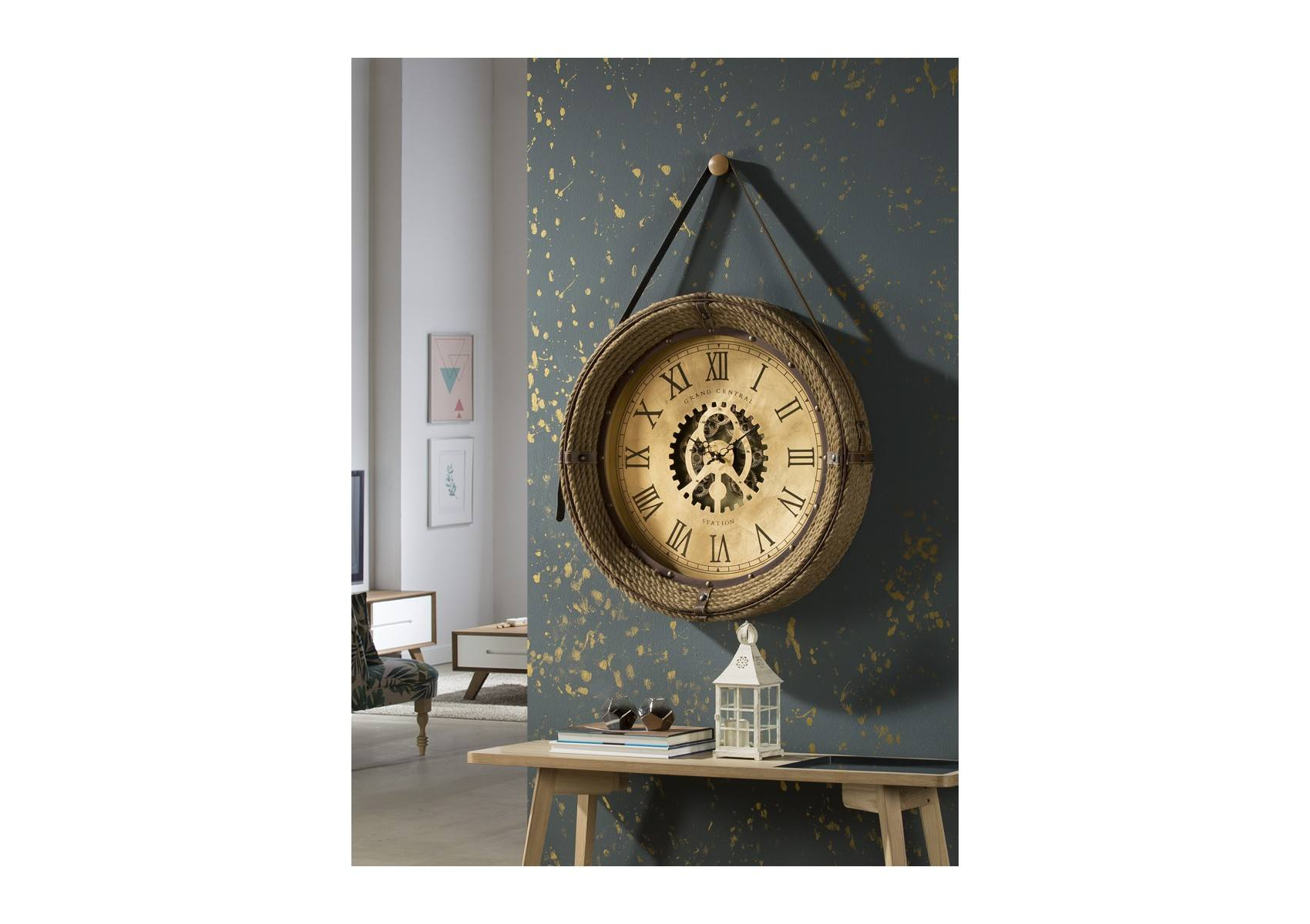 horloge murale vintage brighton 76cm schuller. Black Bedroom Furniture Sets. Home Design Ideas