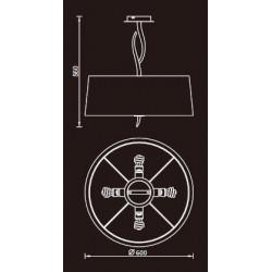Semi-plafonnier design - Ninette
