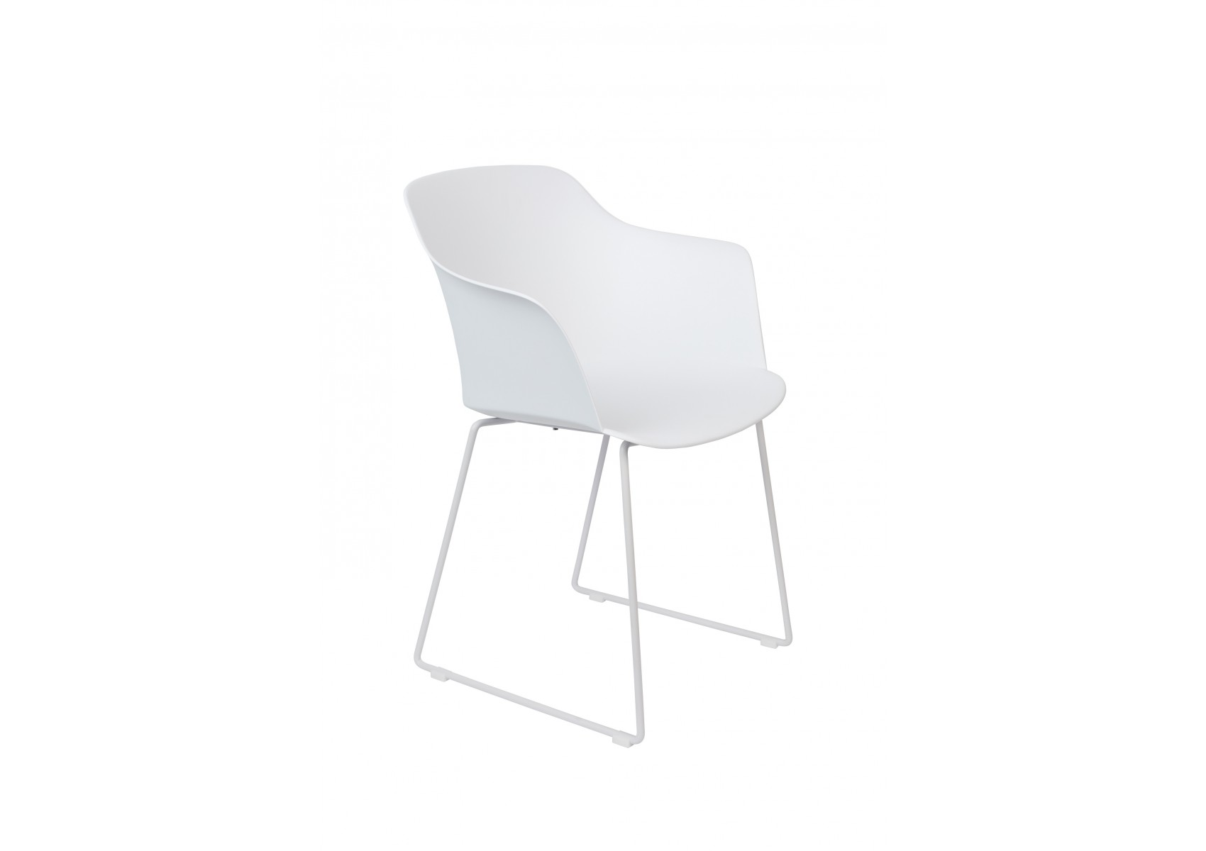 Lot De 2 Chaises Avec Coque En Plastique Et Pied Metal Tango