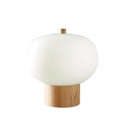 Lampe de table en bois et verre Ilargi 24 cm - Leds C4