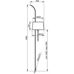 Lampadaire Wall design Aluminor