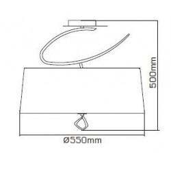 Plafonnier design- petit modèle- Mara