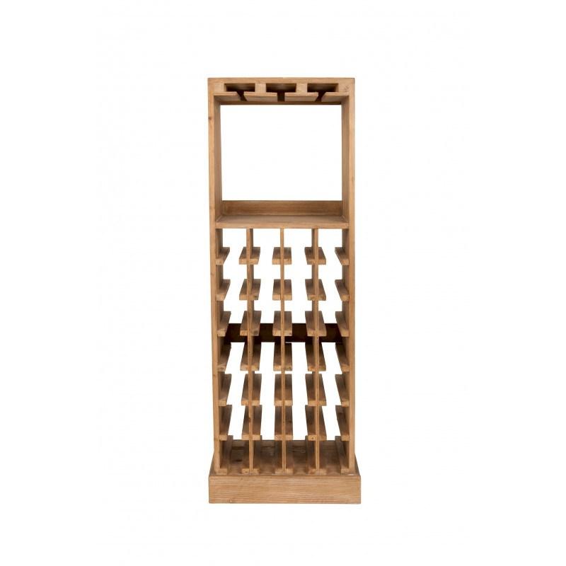 Etagère à bouteilles de vin et verres en bois Claude - Dutchbone