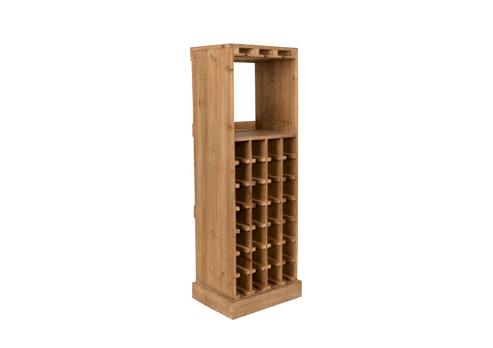 meuble range bouteilles de vin en bois avec rangement verres claude. Black Bedroom Furniture Sets. Home Design Ideas