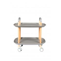 Desserte Cruiser en bois et métal sur roulette - Boite à design