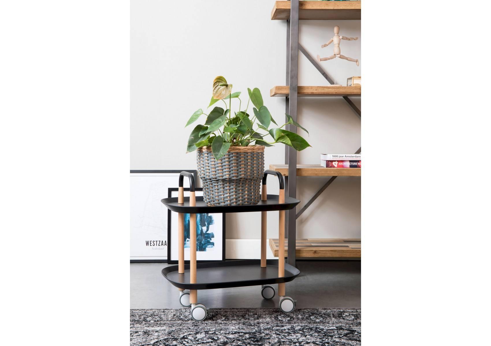 desserte cruiser en bois et m tal sur roulettes boite design. Black Bedroom Furniture Sets. Home Design Ideas