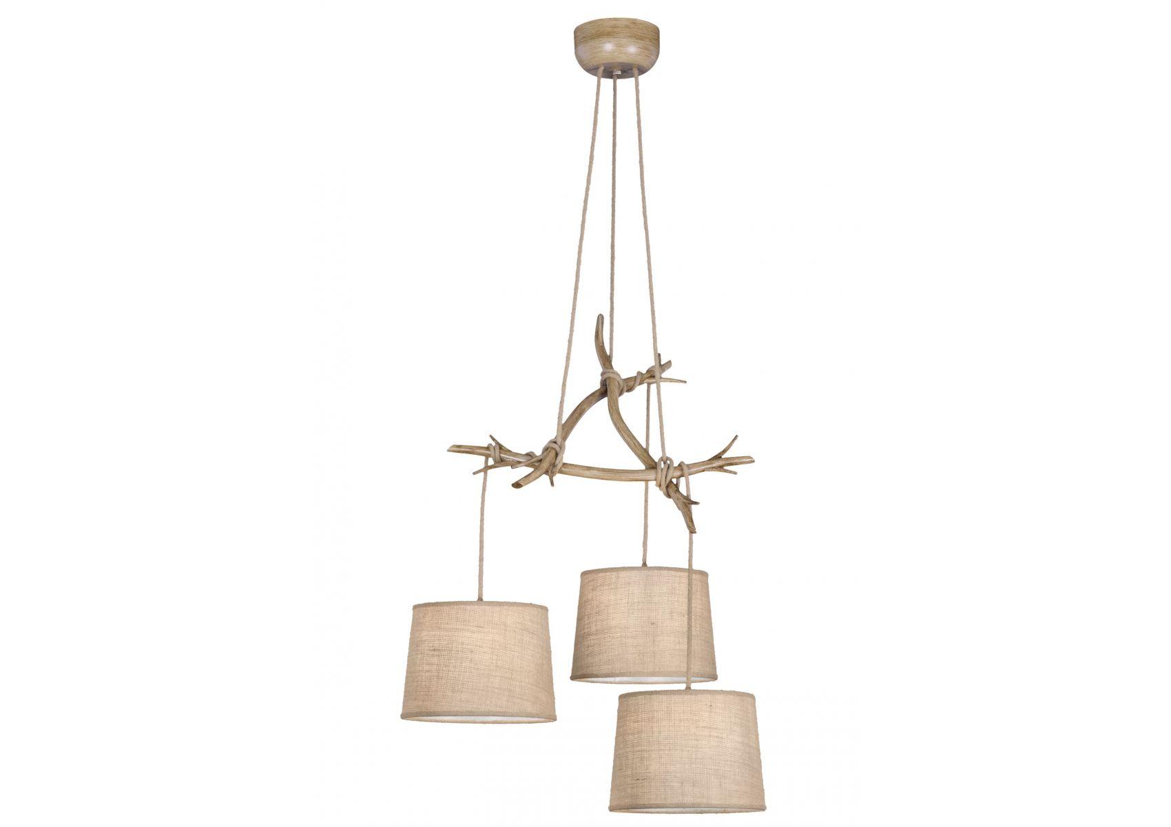suspension rustique 3 lampes sabina mantra. Black Bedroom Furniture Sets. Home Design Ideas
