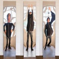 Miroir déformant design- Grand modèle