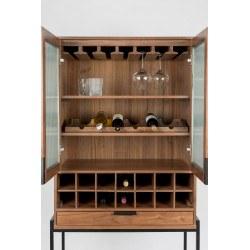 Vaisselier range bouteilles vintage Travis Walnut - Zuiver