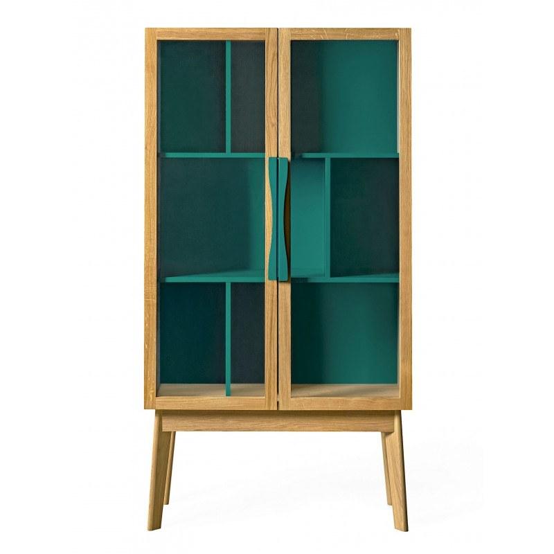 Bibliothèque Vitrine meuble de rangement Avon Display woodman