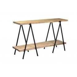 Console industrielle bois et métal noir Flemming - RedCartel