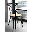 Chaise industrielle métalique et bois BRISTOL RedCartel