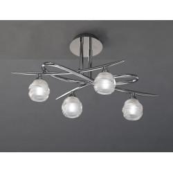 Plafonnier 4 lampes Loop, Mantra
