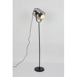 Lampadaire design en métal Cage
