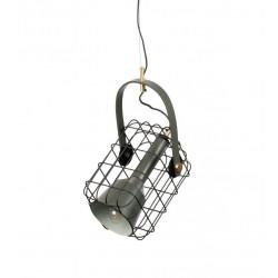 Suspension industriel en métal Cage