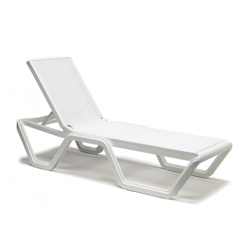 Bain de soleil design à roulettes VELA blanc par Scab design