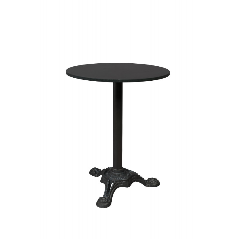 table de bistrot en marbre et m tal mezza dutchbone. Black Bedroom Furniture Sets. Home Design Ideas