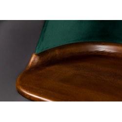 Bureau vintage en velours et bois Finn - Dutchbone