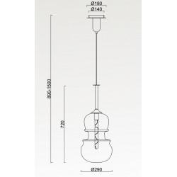 Grande suspension violon SONATA par Mantra