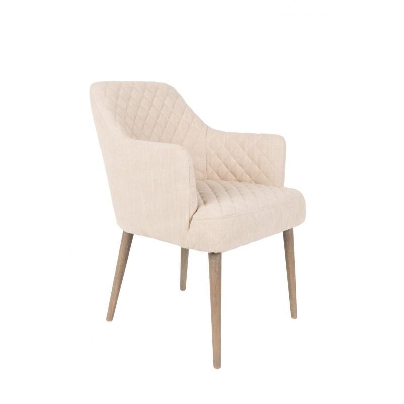 Fauteuil en tissu et pied bois Solance - Boite a design