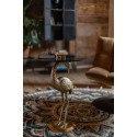 Table d'appoint en verre et métal Crane Noir - Dutchbone