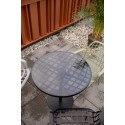 Table bistrot ronde verre fumé Albert Garden - Zuiver