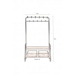 Porte manteaux industriel LUCIUS - Dutchbone