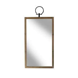 Miroir Glory rectangle en bois naturel Redcartel