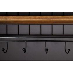 Porte manteaux vintage bois et métal STACK - Dutchbone