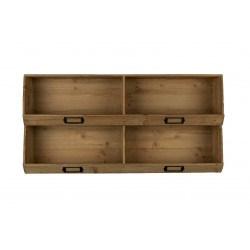 Meuble rangement en bois avec portes étiquettes LIT - Dutchbone