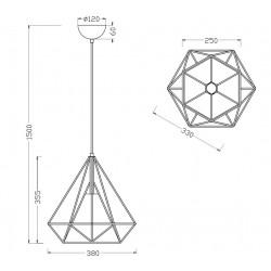 Suspension géométrique moderne BABETTE - Trio