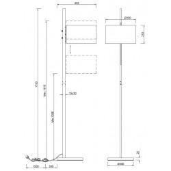 Lampadaire design réglable ARCOR