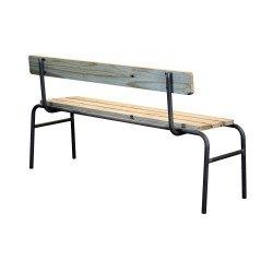 Banc d'école rétro bois et métal LEXINGTON - redcartel