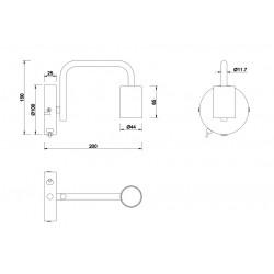 Applique industrielle en métal DIALLO