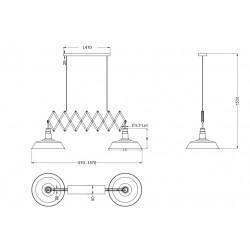 Double suspension vintage réglable - DETROIT