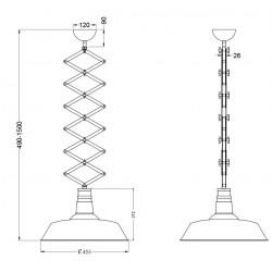 Suspension industrielle réglable en hauteur - DETROIT