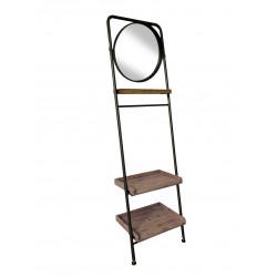 Étagère à poser contre le mur avec miroir pivotant SHELTON - Redcartel
