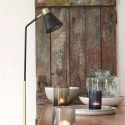 Lampadaire vintage métal noir et laiton Lennon - Redcartel