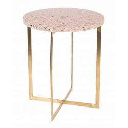 Table d'appoint en terrazzo ronde - Zuiver LUIGI