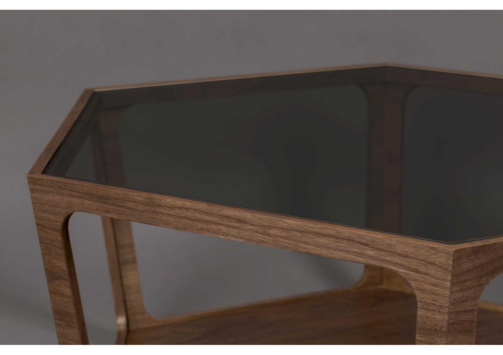 Table Basse Hexagonale En Bois Et Verre Dutchone Sita