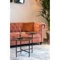 Table d'appoint deux plateaux bois Dutchone - MATHISON