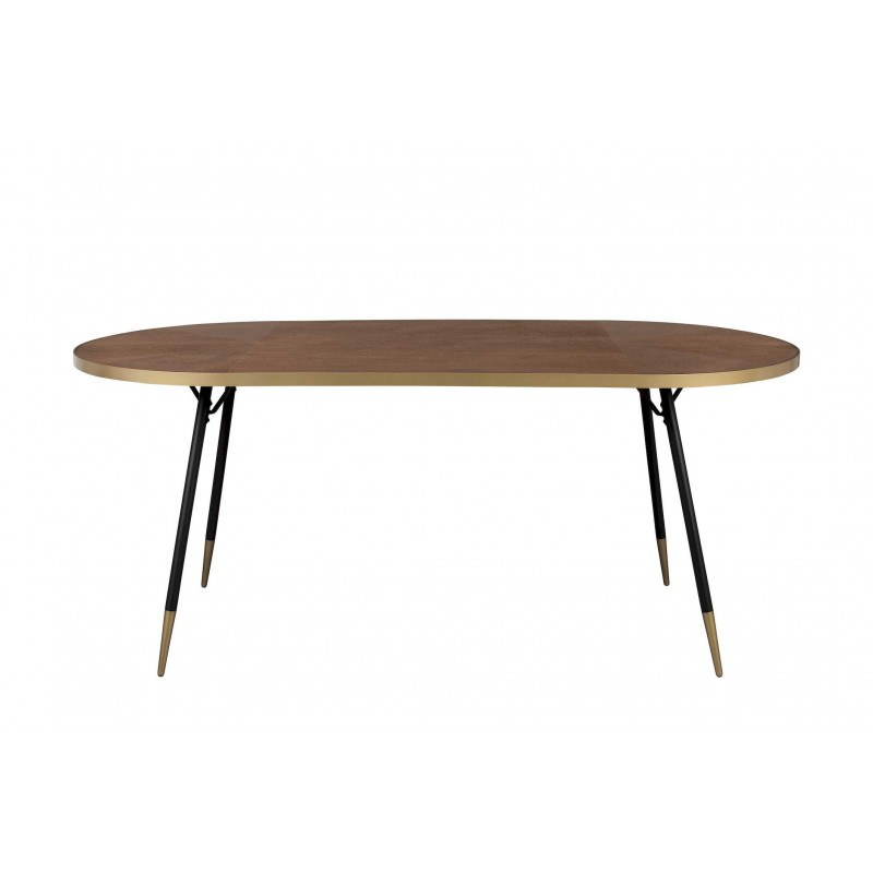 Table vintage ovale 90 x 180 - DENISE