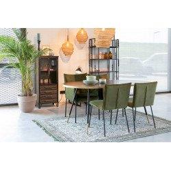 Table vintage ovale 90 x 180 - DENISE