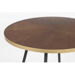 Table à manger vintage ronde 91 cm - DENISE