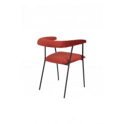 Petit fauteuil déco tissu velours HAILY - Zuiver