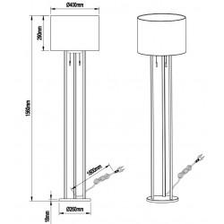 Dimensions lampadaire Tandori